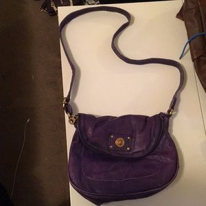 Marc Jacobs Distressed Purple Cross Body Bag